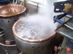 餡練り 沸騰