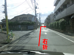 旧千川 Y字路 直進