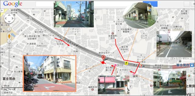 木村家 中域地図